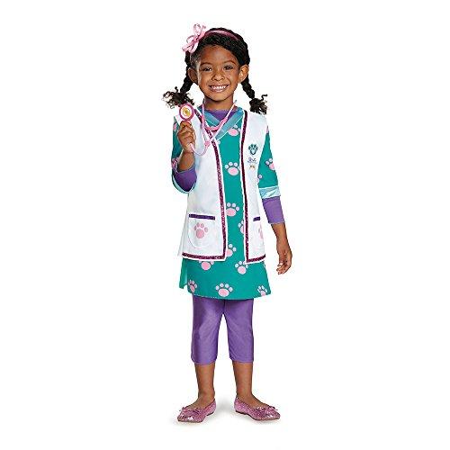 Mcstuffins Costume (Disguise Doc Pet Vet Deluxe Costume, Large (4-6X))