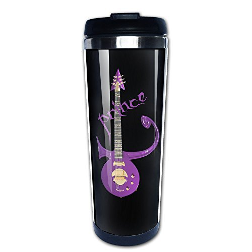 [Caxlorb PPrince Purple Rain Guitar Symbol 80s Particular Coffee Mug Thermal Cup With Easy Clean Lid 14-Ounce] (80s Singers Costumes)