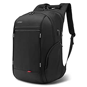 Travel Laptop BackpackAnti-Theft School Bookbag with USB Charging PortDurable Business Daypack College Computer Bag Fit 17.3 inch Laptop & NoteBook for Men/Women Outdoor, Black