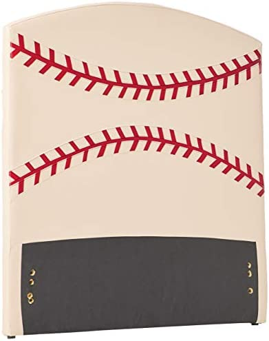 Best modern headboard: Acme 39044 All Star Baseball Twin Headboard