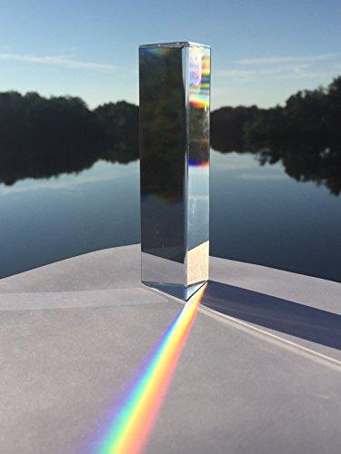 Optical Glass Triangular Prism for Teaching Light Spectrum Physics (6 - Glasses Triangular