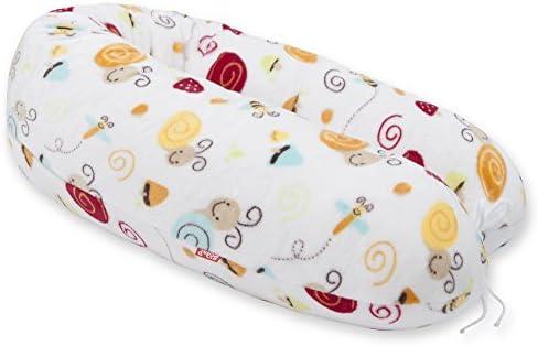 Scamp – Cojín de embarazo y lactancia, incluye funda blanco Schnecke