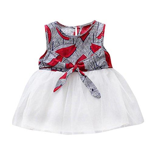 cb76073e9 Lovely DRESS start 2018 Gran Oferta Ropa Bebé NiñA Bowkno Sin Mangas Vestido  ...