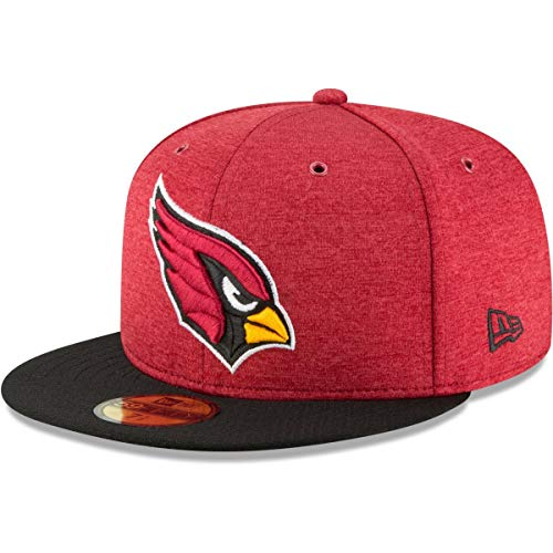 New Era Arizona Cardinals 59Fifty On Field Home Red Black Fitted Hat Cap 7 5/8 (Nfl Black 59fifty Hat)