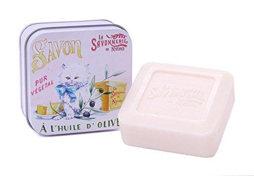 La Savonnerie de Nyons, Soap in A Tin Box Chaton Persan, 100 g