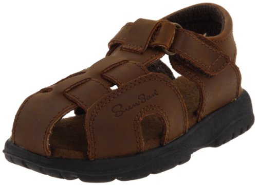 (Salt Water Sandals by Hoy Shoe Shark II,Brown,6 M US Toddler)