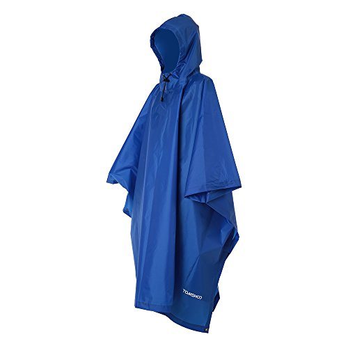 TOMSHOO Raincoat Poncho Backpack Cover Groundsheet Picnic Blanket Tarp Multi Purpose for Hiking Outdoor Camping Picnic