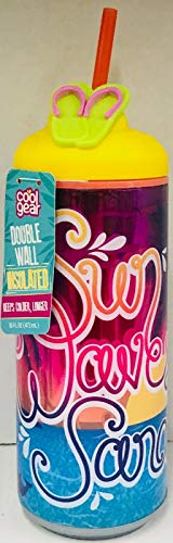 - Cool Gear 16oz Easy to Fill Flip Flop Can Double Wall Insulated