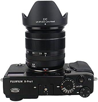 58mm Diameter eFonto//JJC Lens Hood for Fujifilm XF 18-55mm F2.8-4 R LM OIS /& XF 14mm F2.8 R Lens