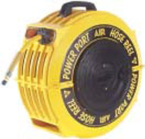 0.5 Inch Chr - POWER PORT CHR 5012-ORS .5IN 50FT PVC 300PSI AUTO REWIND HOSE REEL +HOSE USA