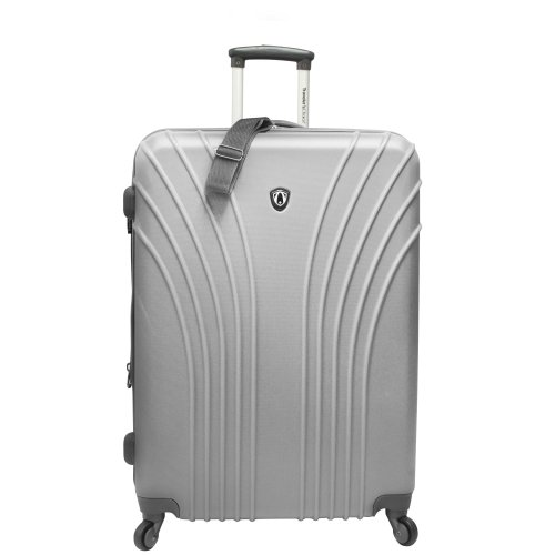 travelers-choice-28-hardside-lightweight-spinner-luggage-silver-grey