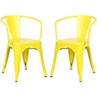 Poly and Bark Trattoria Arm Chair in Yellow(Set of 2)