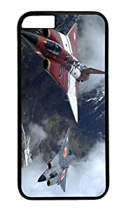 The two military fighter jets flying together PC Black Hard Case for Apple iPhone 6(4.7 inch)