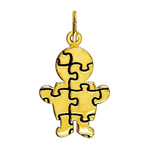 ss Puzzle Boy Charm in 14K Yellow Gold ()