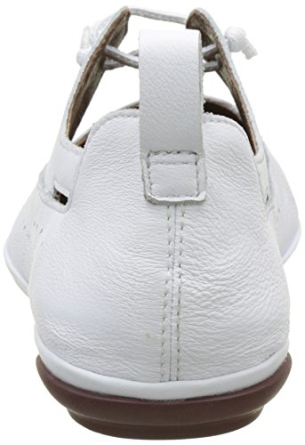Right Donna Stringate Scarpe Bianco Natural Basse Nina Camper Brogue 002 White TagdqYw
