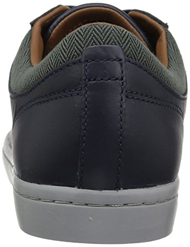 Lacoste Mens Straightset 417 1.0 Casual Sneaker Blu Scuro