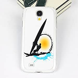 PEACH Beautiful Boat Pattern PC Back Case for Samsung S4/I9500