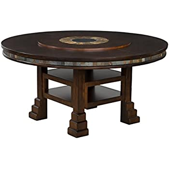 Amazon.com - Sunny Designs Santa Fe Round Table with Lazy Susan ...