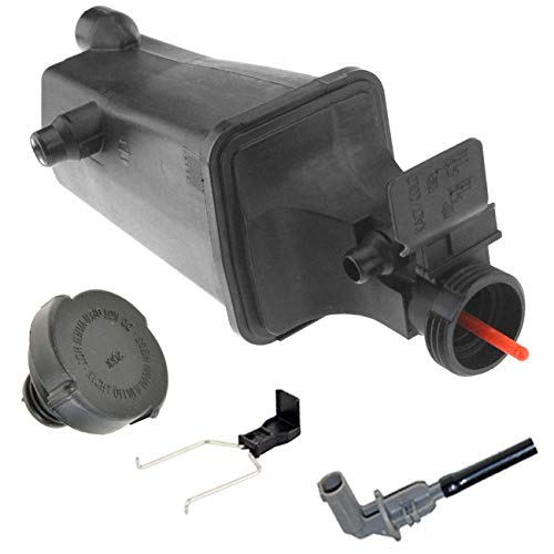 Coolant Reservoir Expansion Tank + Cap + Sensor + Clip Fit BMW E46 E53 E83 17117573781