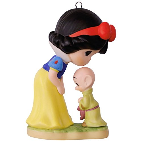 Porcelain Keepsake (Hallmark Keepsake 2017 Precious Moments Disney Snow White and Dopey Porcelain Christmas Ornament)