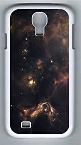 Outer Space Nebulae Custom Samsung Galaxy I9500/Samsung Galaxy S4 Case Cover Polycarbonate White
