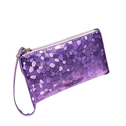 Irene Makeup Bag Women Bling Wallet Fashion Evening Party Clutch Sequins Sparkling (B) ()