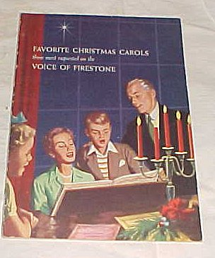 Favorite Christmas Carols Those Most Requested on the Voice of Firestone (Rubber and Tire Co.) Paperback 1955 (Firestone Cover)