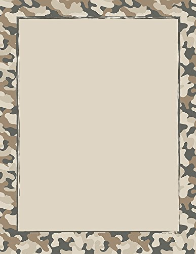 (Great Papers! Camo Letterhead, 8.5