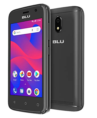 BLU C4 C050U 3G Unlocked GSM Dual-SIM w/ 5MP Front and Rear Camera's – Black