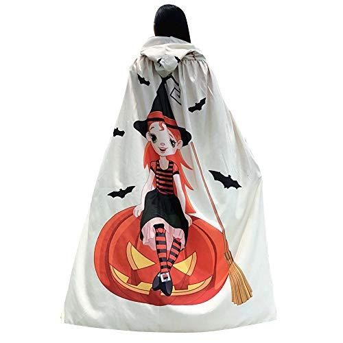 UOKNICE Halloween Women Novelty Pumpkin Print Cape Scarf Lady Poncho Shawl Wrap Costume ()