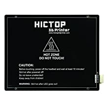 HICTOP 275 x 220mm MK3 Aluminum Heated Bed Hot Bed PCB Heatbed Platform for Reprap 3D Printer 250W 24V + Wiring