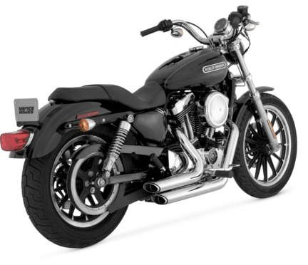 - Vance & Hines Shortshots Staggered Exhaust System - Chrome