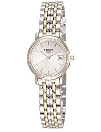 Tissot Women's T52228131 T-Classic Two-Tone Desire White Dial Watch