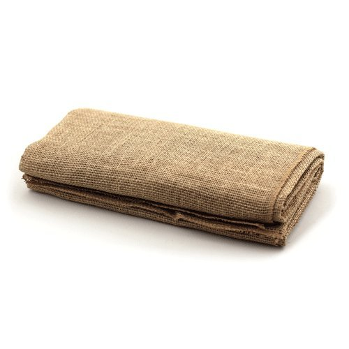 LinenTablecloth Square Burlap Tablecloth, 60-Inch