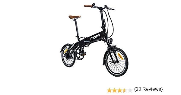 Moma Bikes Bicicleta Electrica, Plegable, Urbana E-16 TEEN, Aluminio, Bat. Ion Litio 36V 9Ah: Amazon.es: Hogar