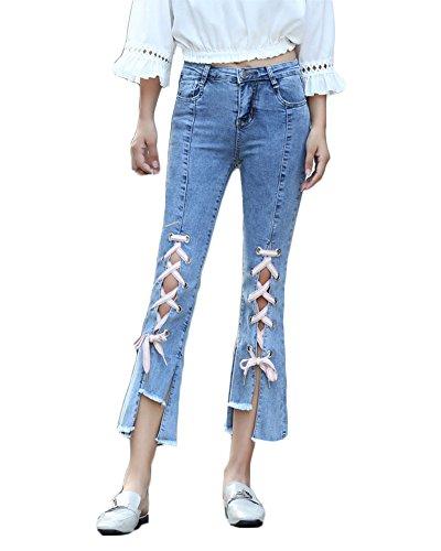 Jean Jeans Stretchy Crayon As Femmes Chic Trou QitunC Jeans Haute Skinny Taille Pantalons Denim Picture Casual Slim Mode A7SxSUqF