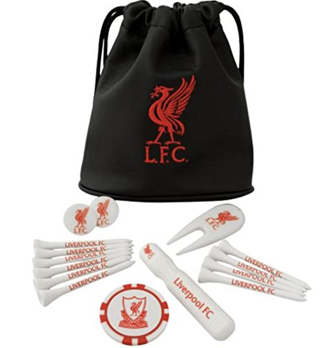 Liverpool FC Tote Bag Golf Gift Set - Great Gift for any Liverpool FC Golf Fan - Includes golf tees, ball markers and more - Official Liverpool FC Product - - Liv Collection