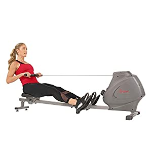 Sunny Health & Fitness Compact Folding Magnetic Rowing Machine with