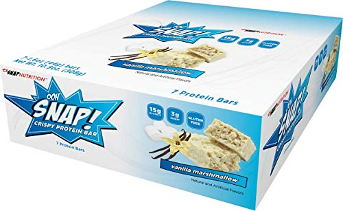 Ooh Snap Nutrition Crispy Protein Bar, Vanilla Marshmallow, 7 Count by Ooh Snap Nutrition