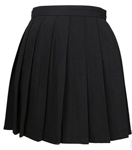 Donna Quotidiani A Skirt Unita Alta Vita Cocktail Tinta Gonne Nero Partito Pieghe Moda Estivo Simple Mini Festa fashion Da Gonna qxtYvv