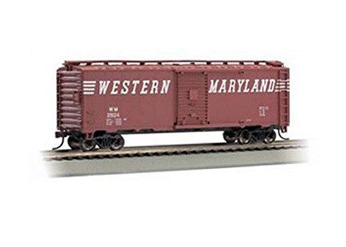 Bachmann Trains Western Maryland (Speed Lettering) #25124 40' Box Car-Ho Scale (Western Maryland Ho Scale)