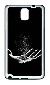 Samsung Galaxy Note 3 N9000 Cases & Covers - Black Flame TPU Custom Soft Case Cover Protector for Samsung Galaxy Note 3 N9000 - White