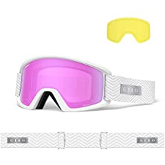 The Dylan women's goggle combines modern tech - like the expansive, wide-angle view of EXV Technology - with a clean, retro-inspired classic design. Myriad colors and designs ensure that you won't come up short in the style department, and Se...