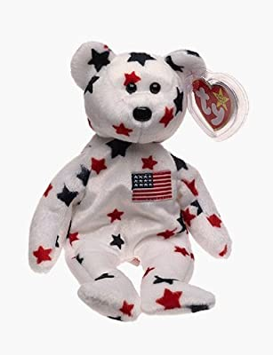 Amazon.com  Ty Beanie Babies - Glory the Bear July 4th Bear Perfect Gift  for 4th of July Celebrations  Toys   Games eef796609fd