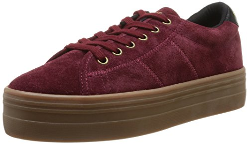 Baskets Name Split mode femme Sneaker Burgundy Rouge Plato No xIdwtqz77