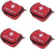 VEIREN 4 Pack Small First Aid Kit Bags Red Emergency Survival Empty Waterproof Storage Bag Bandage Medical Dru