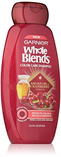 Garnier Whole Blends Shampoo with Argan Oil & Cranberry Extracts, Color Care, 12.5 fl. oz. (Argan Oil Blend)