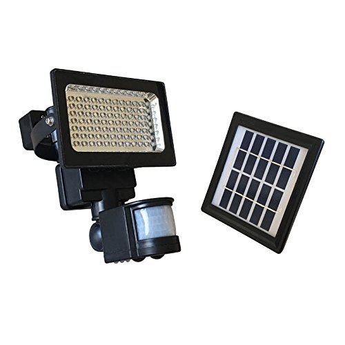 Thunderstone Solar Motion Sensor Light Waterproof with Lithium Battery - Bright 84 LED Security Flood Light - For Outdoor Indoor, Patio, Entrance, Yard, Garage, Pathways by Thunderstone Solar Energy