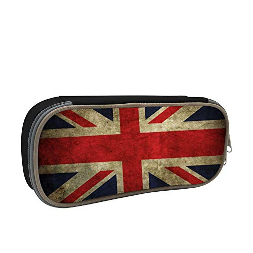 IEUCHEIC 2019 Union Jack British Flag Pen Case, Homecube Big Capacity Pencil Bag Makeup Pouch Durable Students Stationery with Double Zipper
