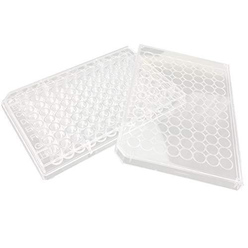 Iplusmile Sterile Tissue Culture Plate 96 Well Surface Treated Tissue Culture Treated for Lab